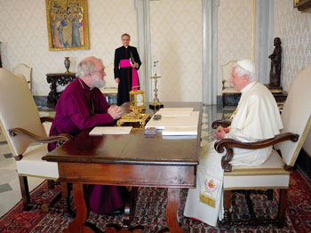Paus Benedictus XVI en Dr. Rowan Williams