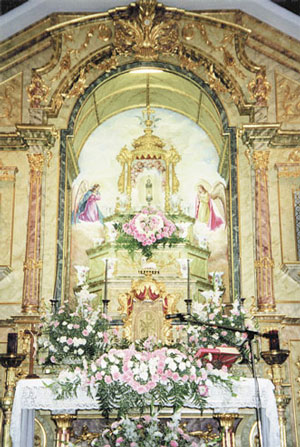 De eucharistische troon
